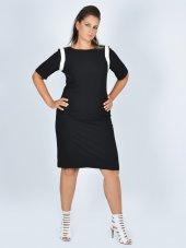 Nidya Moda Büyük Beden Ay Kombin Siyah Abiye Elbise 4031s
