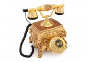 Altın Varaklı Aslanlı Swarovski Taşlı Telefon...