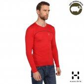 Haglöfs Erkek Merino Wool Kırmızı Yün Termal İçlik