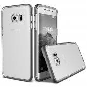 Verus Galaxy S6 Edge Plus Crystal Bumper Kılıf Steel Silver