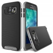 Verus Galaxy S6 Case Crucial Bumper Kılıf Light Silver