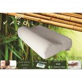 Varol Bambu Yastık Kılıflı Visco Yastık Büyük Boy 58x31cm