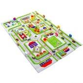Ivi 80x150 Trafik Yeşil Çocuk Odası Oyun Halısı