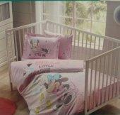 Taç Lisanslı Minnie Scribble Bebek Nevresim Takımı