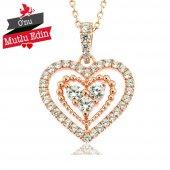 Gümüş Kalp İçi Kalp Kolye