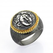 Gümüş Para Yüzük Romin 13