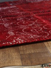 Apex Patchwork El Halısı 160x230 Kırmızı