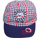 Ekose, Kep Şapka, All Aboard Lacivert Kırmızı Ekose