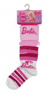 Barbie Fırfırlı Çorap Beyaz