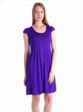 Ayyıldız 59472 Pileli Kısa Kollu Penye Elbise