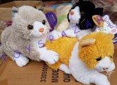 Peluş Oyuncak Sevimli Kedi Miyav Sesli 24cm Sevimli Kedicik
