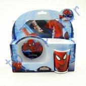 çocuk Yemek Tabak Kase Bardak Örümcek Adam Spiderman Oyuncak
