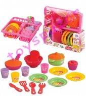 Eğitici Kız Çocuk Oyuncakları Bulaşık Mutfak Seti