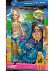 Barbie Banyo Yapan Oyuncak Kız Çocuklarına Yıkanan Barbi Bebek