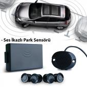 Ses İkazlı Park Sensörü Siyah Beyaz Gri