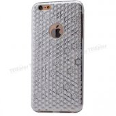 Iphone 6 Plus Desenli Silikon Kılıf Gümüş