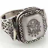 925 Ayar Gümüş Erkek Yüzük Osmanlı Arması Kayı Model