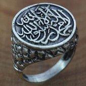 925 Ayar Gümüş Erkek Yüzük Kelime İ Tevhid Oksitli...
