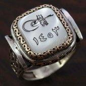 925 Ayar Gümüş Erkek Yüzük Fetih Tuğra Kayı Model