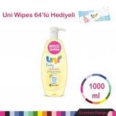 Uni Baby Şampuan 1000 Ml Wipes 64 Yaprak Hediyeli Basmalı Kapak