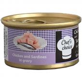 Chefs Choice Tavuklu Sardalyalı Soslu Kedi Konservesi 80 Gr