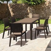 Siesta Contract Florando Masa Sandalye Takımı Bahçe Mobilyası