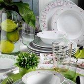 Kütahya Porselen 9380 Çiçekli 48 Parça 12 Kişilik Yemek Takımı