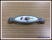 Porselen Kulp Dolap Çekmece 82000 Model 141 Desen 128 Mm Krom