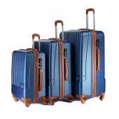 8fd8fda802d32 Wexta Silver Mix Çivit Mavi 3lü Valiz Seti Kabin, Orta & Büyük Boy Wx231