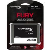 Kıngston Hyperx Fury 2.5 240gb Ssd Sata3 500 500 Shfs37a 240g