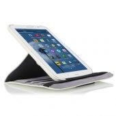 Samsung N5100 Note 8 8 İnç 360 Derece Dönen Standlı Kılıf Beyaz