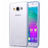 Galaxy A5 Color Curve Tpu Arka Kapak Şeffaf Mavi