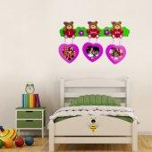 Dp 1505l Oyuncak Ayı Fotoğraf Çerçevesi Sticker, Çocuk Odası Duva