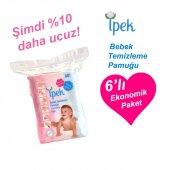 Ipek Bebek Temizleme Pamuğu 60 Adet X 6 Paket