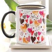 Kişiye Özel Siyah Kupa Bardak (Sevgililer Günü Temalı 49)