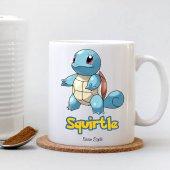 Kişiye Özel Pokemon Squirtle Beyaz Kupa Bardak