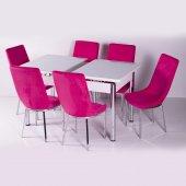 Masa Takımı 6 Kişilik Açılır Mutfak Masası 10 Renk Seçeneği