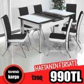 Mutfak Masa Seti Masa Takımı 6 Sandalye + Masa