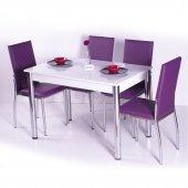 Desenli Renkli Mutfak Masası Takımı Sandalye Modeli