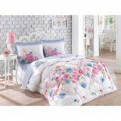 Cotton Box Çift Kişilik Ranforce Uyku Seti Sandrea Mavi