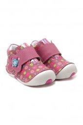Kids World Ortopedik Koyu Pembe Çiçekli Kız Çocuk Ayakkabı