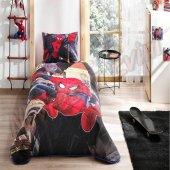 Taç Lisanslı Kapitoneli Nevresim Takımı Spiderman Örümcek Adam