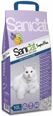 Sanicat Super Plus Lavanta Ve Portakallı Kedi Kumu 10 Lt