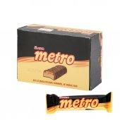 ülker Metro Sütlü Çikolata Kaplı Karamel Ve Nugalı Bar X 24 Adet