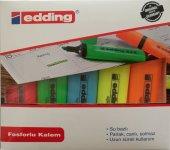 Edding Fosforlu Kalem Karışık Renkler 5 Li Paket