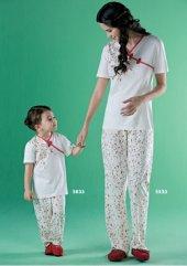 Seasoul Bambu Kız Çocuk Kısa Kollu Pijama Set