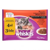 Whiskas Pouch Multipack Yavru Yaş Kedi Maması 100 Gr