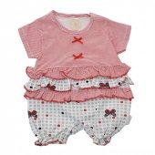 Babyzuff Kelebekli Kız Bebek Kısa Tulum Kırmızı