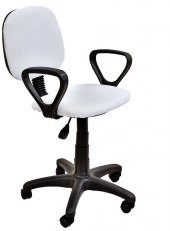 Fileli Beyaz Ofis Sandalyesi