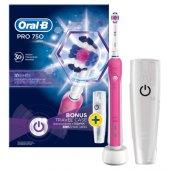 Oral B Pro 750 Şarj Edilebilir Diş Fırçası Cross Action Pembe